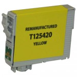 Replacement Epson 125 (T125420) Yellow Ink Cartridge - T1254