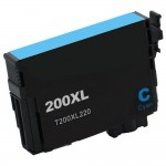 Replacement Epson 200XL (T200XL220) High Yield Cyan Ink Cartridge - T200XL2