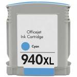 HP 940XL / C4907AN Replacement High Yield Cyan Ink Cartridge
