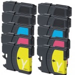 Brother LC61 Compatible (10-pack) Ink Cartridges (4x Black, 2x Cyan, 2x Magenta, 2x Yellow)