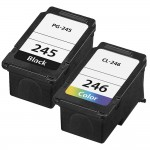 Replacement Canon Ink 245 246 Combo Pack of 2 Cartridges - PG-245 CL-246 - 1x Black + 1x Color
