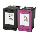 HP 61XL Combo Pack of 2 Replacement Ink Cartridges - CH563WN Black & CH564WN Color - High Yield - (1x Black, 1x Color)
