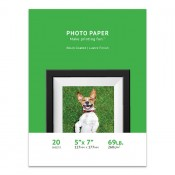 Premium Lustre Photo Paper, 5 x 7, 20 Sheet Pack, 260g, Resin Coated
