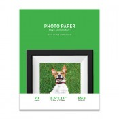 Premium Matte 8.5 x 11 Inkjet Photo Paper, Resin Coated - 20 Sheet Pack