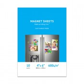 Premium Matte Inkjet Magnet Sheets, 4 x 6, Cast Coated - 10 Sheet Pack