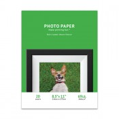 Premium Woven Textured Inkjet Photo Paper(8.5 x 11) 20 sheets - Resin Coated