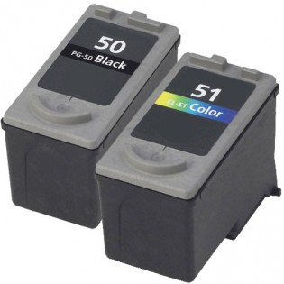 Canon PG-50 Black & CL-51 Color 2-pack High Yield Ink Cartridges