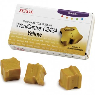Xerox 108R00662 / WorkCentre C2424 OEM Yellow Ink 3-pack Cartridge